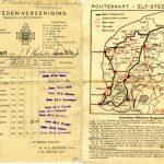 Startkaart J. F. Hoekstra 1942